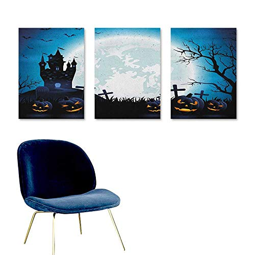 Agoza Halloween Graffiti Canvas Painting Spooky Concept with
