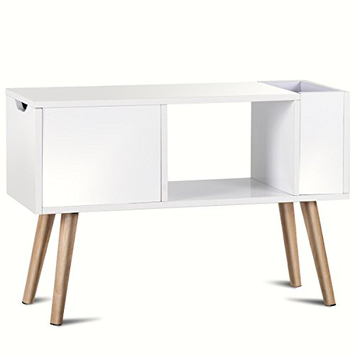 RX-789 Side End Table Modern Bedroom Living Room Sitting Room Drawer White
