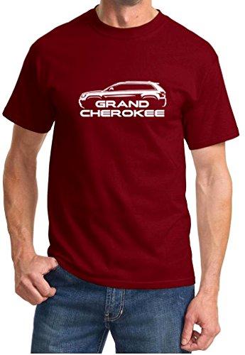 2011-16 Jeep Grand Cherokee Classic Outline Design Tshirt large maroon (94 Jeep Grand Cherokee Crank Position Sensor Location)