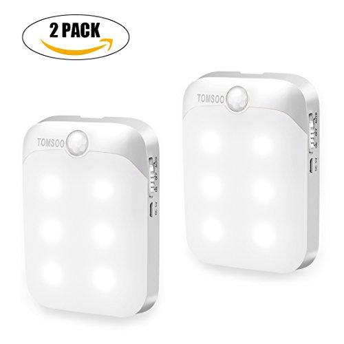 6 Led Pir Infrared Motion Sensor Detector Night Lights