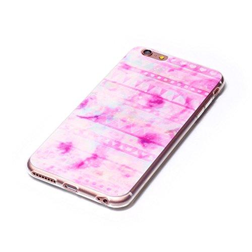 Qiaogle Teléfono Caso - Funda de TPU silicona Carcasa Case Cover para Apple iPhone 6 / iPhone 6S (4.7 Pulgadas) - LF08 / Fuck You LF01 / Pink Halo