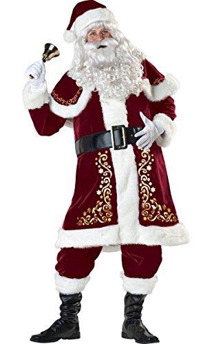 Men's Christmas Santa Claus Costume Deluxe Set Santa Suit X-Large - Deluxe Santa Claus Suit