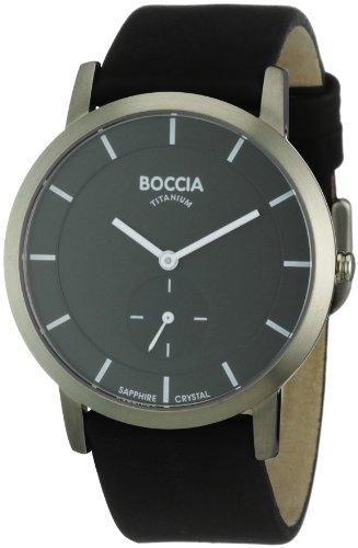 Boccia B3540-02 Mens Titanium Black Watch