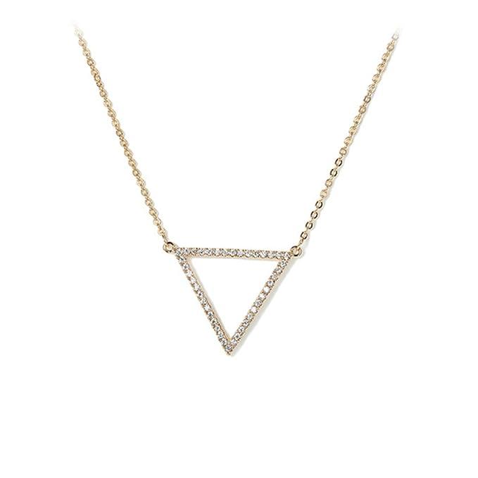 cc26f7e7694e Collar Corto Personalidad Triángulo Colgante Accesorios Gargantilla Para La  Esposa Del Día De San Valentín De Las Mujeres