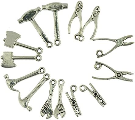 ペンダント 工具形状 ミックス DIYアクセサリー デコレーション 約40個