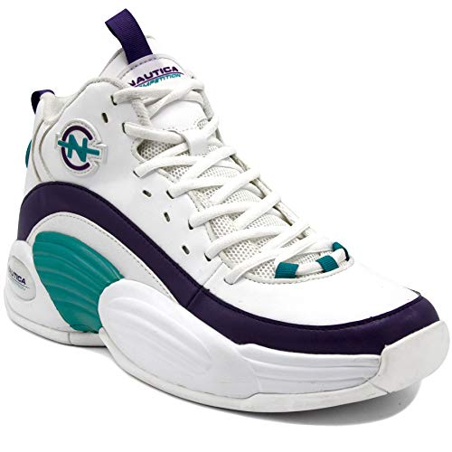 Nautica Competition Retro Men's Fashion Sneakers Sport Casual Athletic Shoes-Spara-White Teal-10