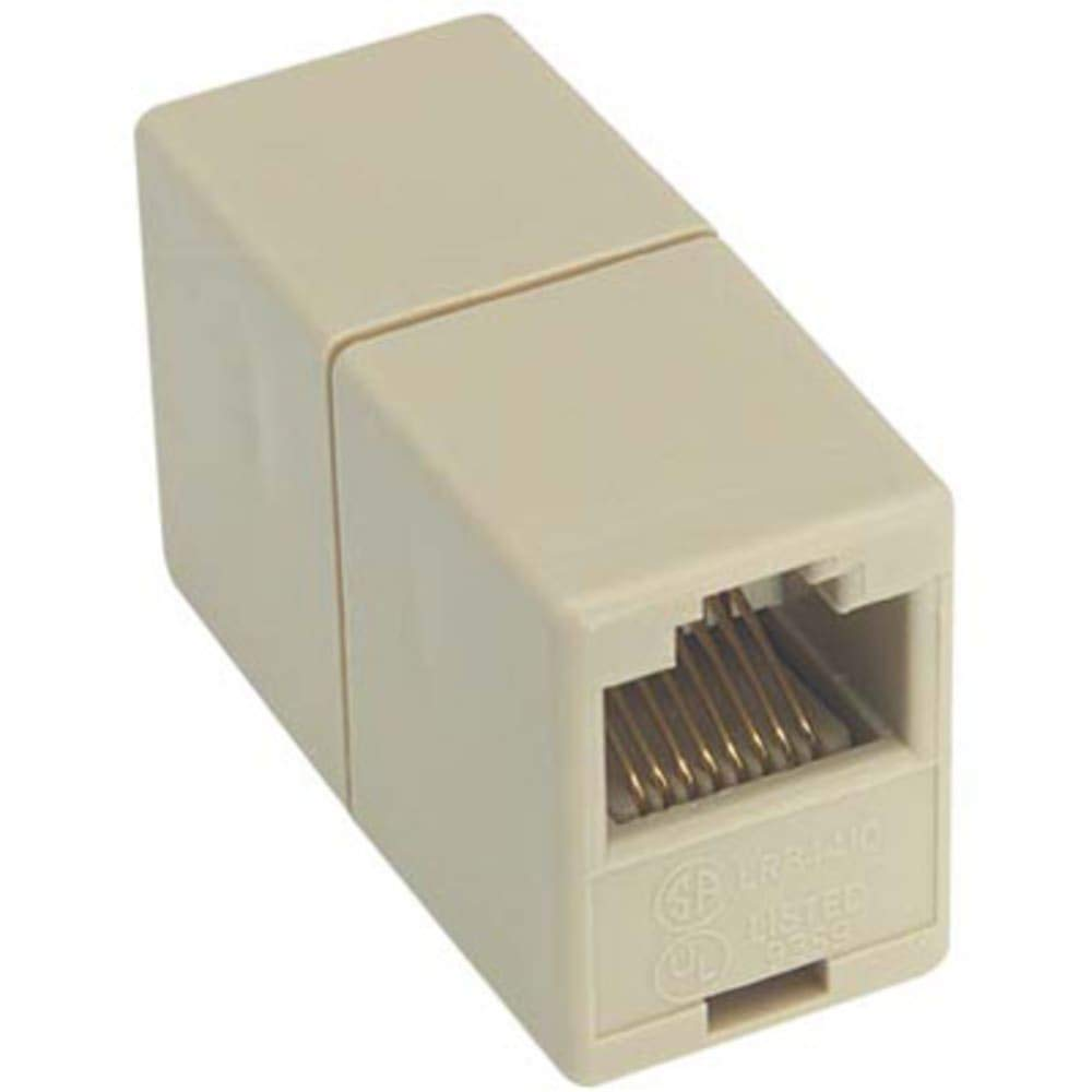 Modular Coupler; RJ45 (8x8); Straight Wired, Pack of 10