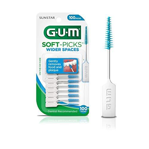 GUM Soft-Picks Wider Spaces Dental Picks, 100 Count