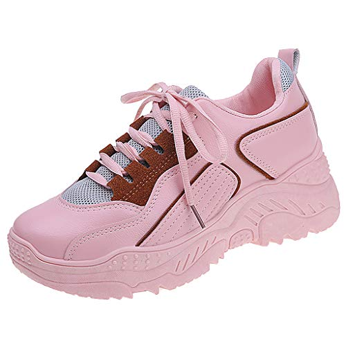 Sherostore ♡ Womens Chunky Sneakers Athletic Sports Walking Shoes with Lace Up Platform Leather Trainers Sports Wear - Wing Slipcover Plaid