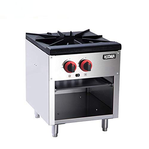 18 Inches Single Stock Pot Stove - KITMA Natural Gas Countertop Stock Pot Range with 2 Manual Controls - Restaurant Equipment for Soups by Kitma (Image #7)