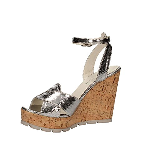 collection high spring Sandal nbsp;FRT47 new with summer 2017 color silver wedge Apepazza 7T8qtq