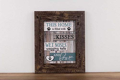 Summer Snow This Home is Filled with Kisses, Wet noses, Wagging Tails and Love Dog cat pet Gift Decor Art Picture Sign ()