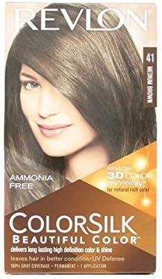 Revlon - Tinte Sin Amoniaco Colorsilk Revlon Castaño: Amazon ...