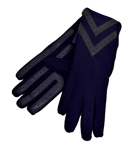 isotoner Women's Spandex Touchscreen Gloves with Fleece Lining and Chevron Details