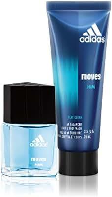 Adidas Fragrance Moves for Him 2 PC - 0.5 oz Eau de Toilette, 2.5 oz Hair & Body Wash