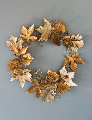 (Gardener's Supply Company Leaf and Berry Metal Wreath,)