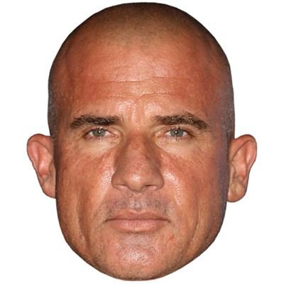 Price comparison product image Dominic Purcell Celebrity Mask,  Card Face and Fancy Dress Mask