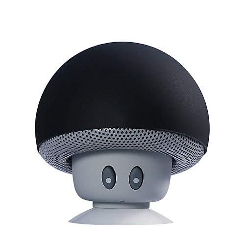 Sudroid Mushroom Mini Wireless Portable Bluetooth 4.1 Speakers with Mic for Smartphones (Black)