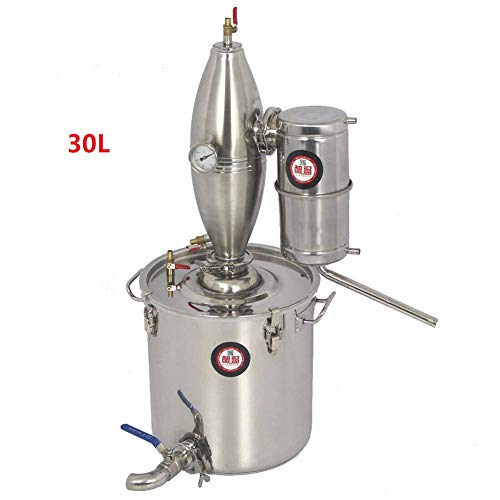 25L 6.6Gal 304 Stainless Steel Alcohol Distiller Home Brew Kit Monnshine Wine Making Boiler