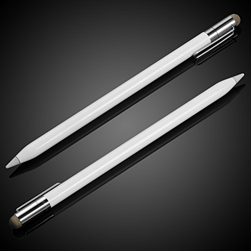 MEKO 2 in 1 Cap Replacement for Apple Pencil Thin Fiber Tip as Stylus for iPads,iPhones,Tablets, Laptops and All Touch Screen Devices(3 Pcs) by MEKO (Image #1)