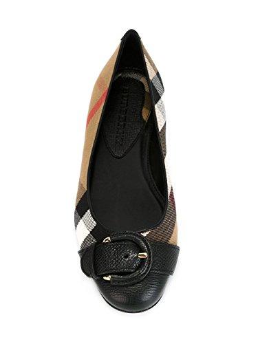 Ballerines Femme Tissu Burberry noir Beige 39806861005 f8AxSwngXq