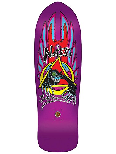 SMA Re-Issue Skateboard Old School Deck Natas Evil Cat Metallic Purple 10.1