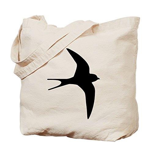 CafePress–Rondine Uccello–Borsa di tela naturale, panno borsa per la spesa