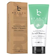 Facial Cleanser; Gel Face Wash with Organic and Natural Anti-Aging Formula; Restorative Gentle Soap for Anti Breakout, Deep Pore Cleansing; Normal, Combo or Acne Prone Skin, Daily Use Men and Women