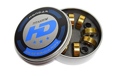 - Abec-7 Skateboard Bearings w/ Heavy Duty Metal Spacer and Super Titanium Skateboard Bearings (Titanium Bearings)