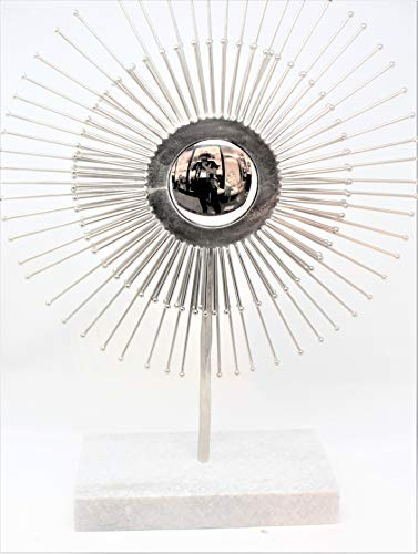 (Global Views Mirrored Silver Sunburst Sculpture 23