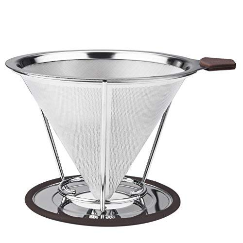 Acquisto Vicloon Filtro Caffe/Filtro Caffettiera, Filtro da Caffè Permanente in Inox con il Basamento Prezzi offerta
