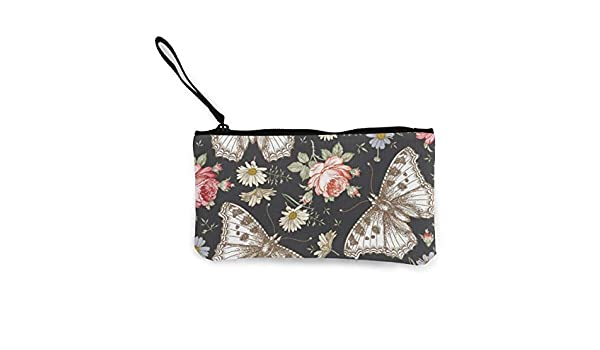 Bearget - Cartera con Cremallera para Mujer, diseño de Mariposas y polillas, Color Rosa: Amazon.es: Hogar