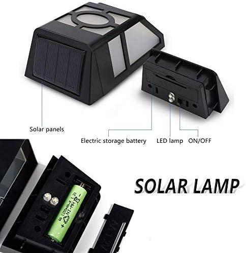 [8 Stück] Solarleuchten für Außen, Derlights® Wasserdichte Solarlampen für Außen Zaun Post, 1200Mah Außenwandleuchten for Garten Aussen Deck Yard Lawn Beleuchtung & Dekoration [Energieklasse A+++]