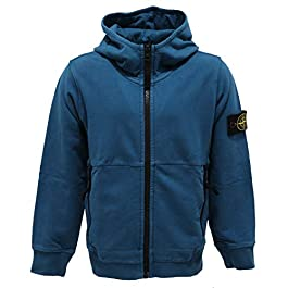 Stone Island 4864AB Felpa Bimbo BOY Junior Full Zip Hoodie Sweatshirt Kid