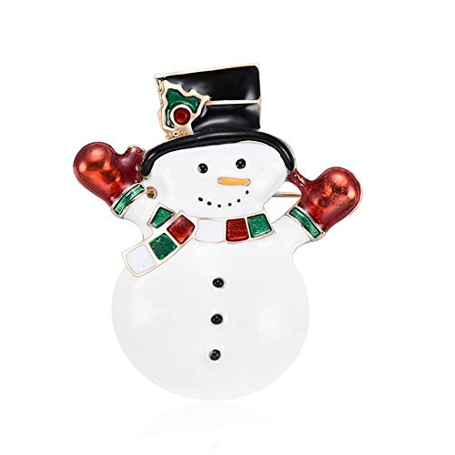 dezirZJjx Christmas Decorations, Cute Christmas Snowman Enamel Badge Clothes Decor Jewelry Brooch Pin Xmas Gift - Christmas Snowman