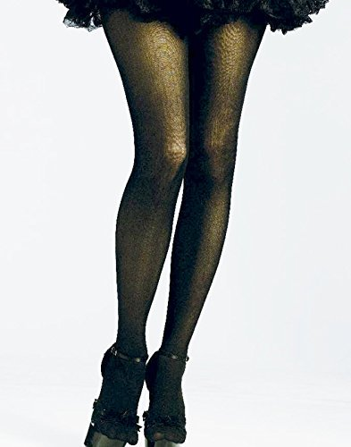 [Rockin 80s Black Neon Tights Adult Costume Accessory OSFM NIP] (Tights Costumes Accessory)