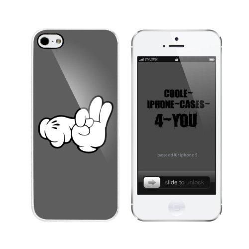 Iphone 5 / 5S Schutzhülle Fuck Yeah Hands - weisser Rahmen