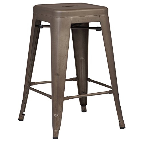 Poly and Bark Trattoria 24 Counter Height Stool in Bronze