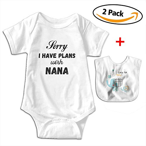 Robprint I Have Plans Nana Unisex Baby Cotton Short-Sleeve Bodysuits Rompers