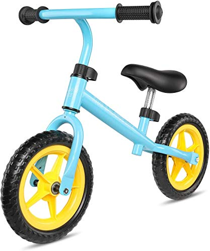 AuAg Pedal-Free Balance Bike Small Size, Kids Balancing Bicycle 18-24 Months Up Lightweight EVA Tire Bike for Toddler Walking Bicycle Adjustable Height Boys & Girls First Bike Birthday Gifts – Mini