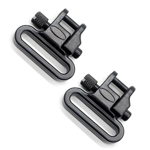 1 Pair Sling Swivels 1 Inch Heavy Duty 300 LB Quick Detach for Hunting Rifle Sling by Trirock