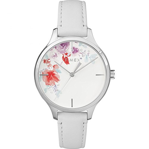 Timex Crystal Bloom 36mm Leather Strap Watch - White - TW2R66800 (Health Touch Timex)