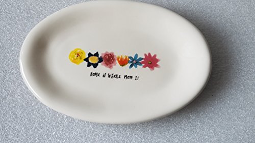 Rae Dunn Home is Where Mom is Oval Plate