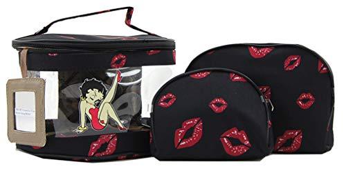 Betty Boop Makeup Bag 3 Pieces Set (Black)