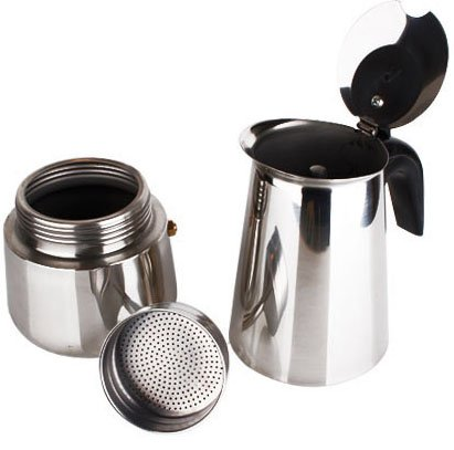 Stovetop Espresso Maker Moka Pot, 304 Stainless Steel, 2/4/6/9/12 Cup (6cup(300ml))
