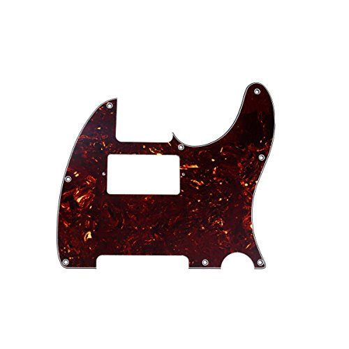 Squier Standard Tele - Musiclily 8 Hole Telecaster Pickguard Humbucker HH Scratch Plate for Fender American/Mexican Standard Tele Guitar Parts,4ply Tortoise Shell