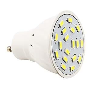 nyyy gu10 4w 18xsmd 5730 280lm 5500 6500k cool white light led spot lights with. Black Bedroom Furniture Sets. Home Design Ideas