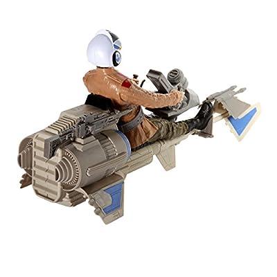 Star Wars The Force Awakens 12-inch Speeder Bike: Toys & Games