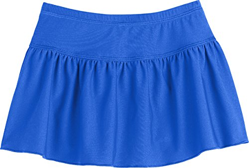 Coolibar UPF 50+ Toddler Girls' Wavecatcher Swim Skirt - Sun Protective (3T- Baja Blue) (Toddler Girls Swim Skirt)