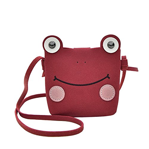 Small Phone 2 Mini Crossbody Birthday Christmas Cell Frog Kids Candies Lovely Handbags Holder Case Bags Toddlers Red Yrs Gift Purse Clutch for Great Shoulder Wallet 8 Design PgwPAqzIx